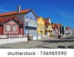 costa nova  portugal  june 10 ...   Shutterstock . vector #736985590