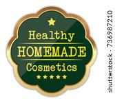 homemade cosmetics badge | Shutterstock .eps vector #736987210