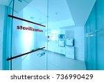 room for sterilizing... | Shutterstock . vector #736990429