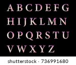 vector alphabet set geometric... | Shutterstock .eps vector #736991680
