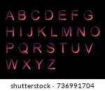 vector alphabet set geometric... | Shutterstock .eps vector #736991704