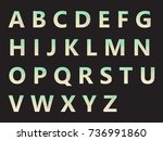 vector alphabet set geometric... | Shutterstock .eps vector #736991860