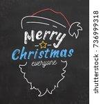 typographic christmas... | Shutterstock .eps vector #736999318