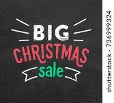christmas sale sign | Shutterstock .eps vector #736999324