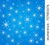 retro seamless snowflakes...   Shutterstock .eps vector #737001076