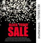 black friday sale background.... | Shutterstock .eps vector #737001730
