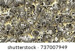 abstract digital fractal... | Shutterstock . vector #737007949