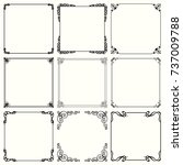 decorative frames | Shutterstock .eps vector #737009788