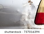 Small photo of The color of the car is abrasive because of accident