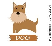 vector dog cartoon | Shutterstock .eps vector #737016604