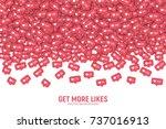 vector 3d social network like... | Shutterstock .eps vector #737016913
