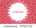vector 3d social network like... | Shutterstock .eps vector #737017156