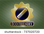 golden emblem or badge with... | Shutterstock .eps vector #737020720