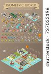 set of isometric high quality... | Shutterstock .eps vector #737022196