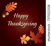 happy thanksgiving graphic with ... | Shutterstock .eps vector #737022328