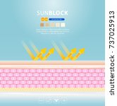 uv reflection skin after... | Shutterstock .eps vector #737025913