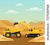 construction machinery for... | Shutterstock .eps vector #737030968