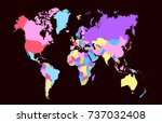 color world map | Shutterstock .eps vector #737032408