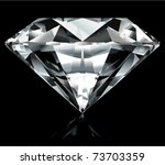 realistic diamond illustration ... | Shutterstock .eps vector #73703359