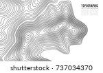 topographic map contour... | Shutterstock .eps vector #737034370