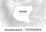 topographic map contour...   Shutterstock .eps vector #737034394