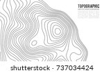 topographic map contour... | Shutterstock .eps vector #737034424