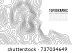 topographic map contour... | Shutterstock .eps vector #737034649