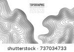 topographic map contour... | Shutterstock .eps vector #737034733