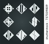 vector hipster triangle... | Shutterstock .eps vector #737039809