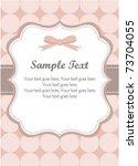 cute pink romantic invitation | Shutterstock .eps vector #73704055