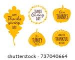flat design style happy...   Shutterstock .eps vector #737040664
