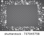 blizzard snowflake on... | Shutterstock .eps vector #737045758