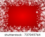 christmas snow on red...   Shutterstock .eps vector #737045764