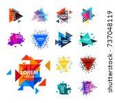 sacred geometry triangle... | Shutterstock .eps vector #737048119