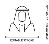 sheikh silhouette linear icon.... | Shutterstock .eps vector #737050639