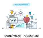 results of projects. planning ... | Shutterstock .eps vector #737051080