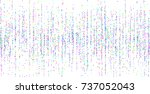 colored small confetti on a... | Shutterstock .eps vector #737052043