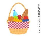 vector illustration of a wicker ... | Shutterstock .eps vector #737054896