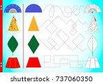 interesting geometry in... | Shutterstock .eps vector #737060350