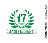17 years anniversary logo... | Shutterstock .eps vector #737062564