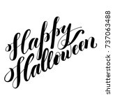 happy halloween hand drawn... | Shutterstock .eps vector #737063488