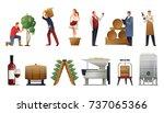 wine production gradient set... | Shutterstock .eps vector #737065366