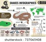 snakes reptiles infographics... | Shutterstock .eps vector #737065408