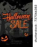halloween sale special offer... | Shutterstock .eps vector #737066383