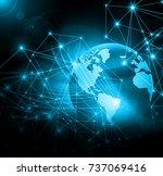 best internet concept of global ... | Shutterstock . vector #737069416