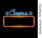 retro banner cinema vintage... | Shutterstock .eps vector #737069710