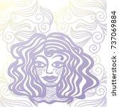 girl. vector illustration. | Shutterstock .eps vector #737069884