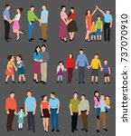 people collection | Shutterstock . vector #737070910
