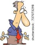 cartoon man who is broke  his... | Shutterstock .eps vector #737073298