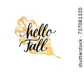 vector hello fall hand... | Shutterstock .eps vector #737081320